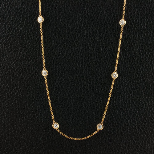 Yellow Gold  Diamonds by the Yard Necklace