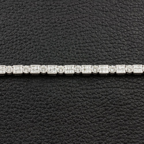 Alternating Shape Diamond Bracelet