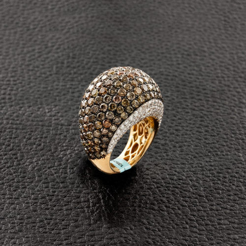 Brown Diamond Dome Ring