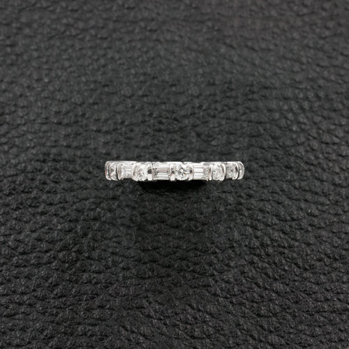 Alternating Shapes Diamond Eternity Band