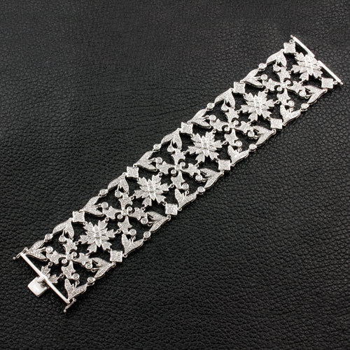 Wide Diamond Straight Bracelet