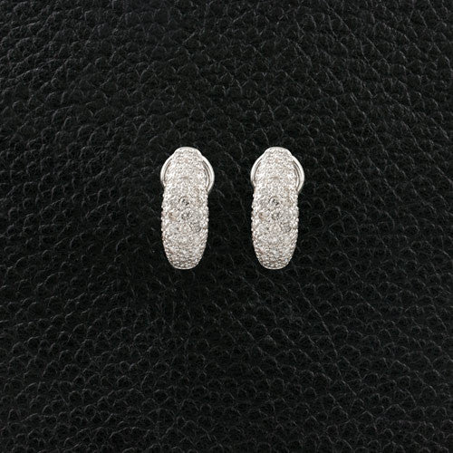 Half Dome Diamond Earrings