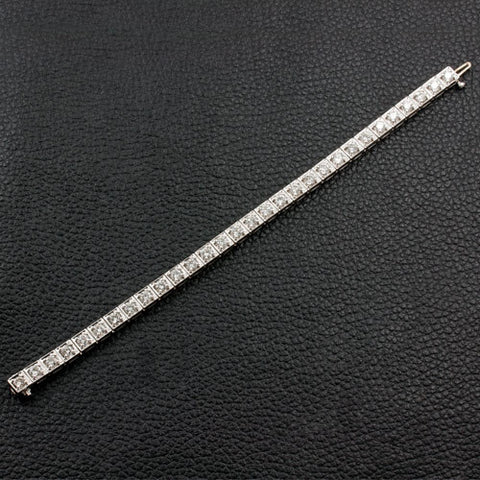 Square Set Diamond Bracelet