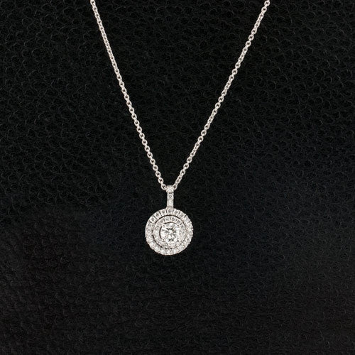 Diamond Double Halo Pendant