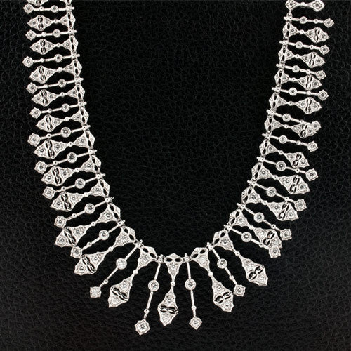Diamond Bib style Necklace