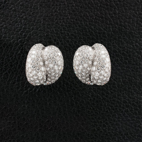 Free Form Diamond Earrings