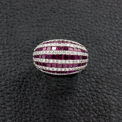 Ruby & Diamond Dome Ring