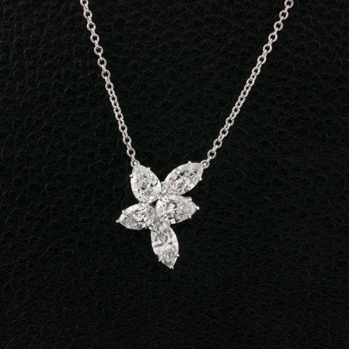 Pear & Marquise Diamond Pendant