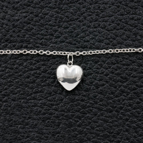 Puffy Heart on a Chain Bracelet