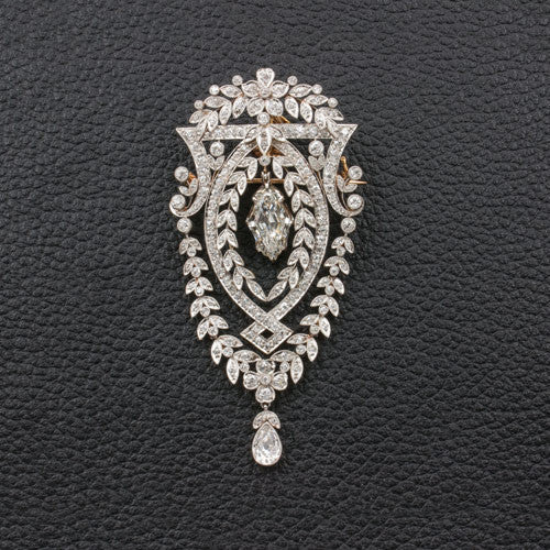 Antique Diamond Brooch in Box