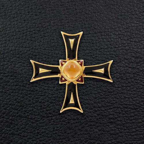 Citrine Cross Estate Pin/Pendant