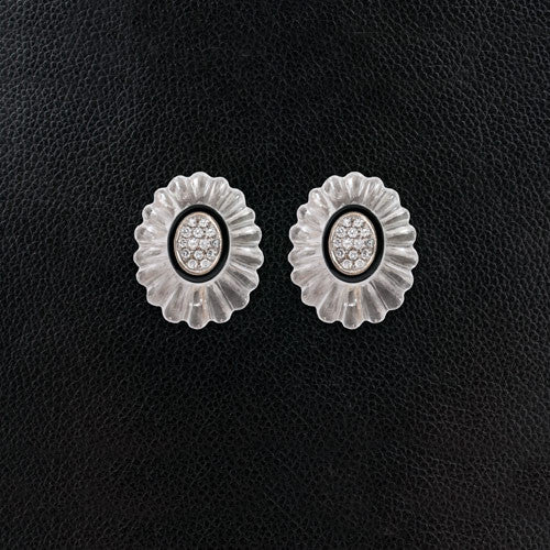 Crystal & Diamond Estate Earrings
