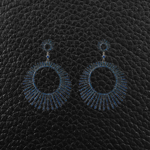 Sapphire Mod Dangle Earrings