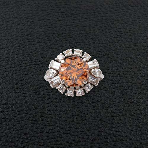 Brown & White Diamond Estate Ring