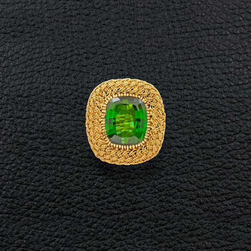 Green Tourmaline Estate Ring
