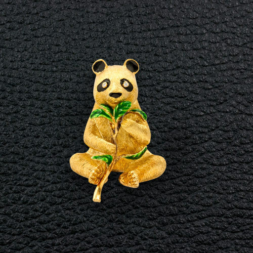 Gold Panda Estate Pin