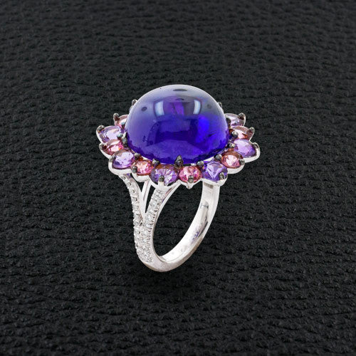 Cabochon Amethyst Cocktail Ring