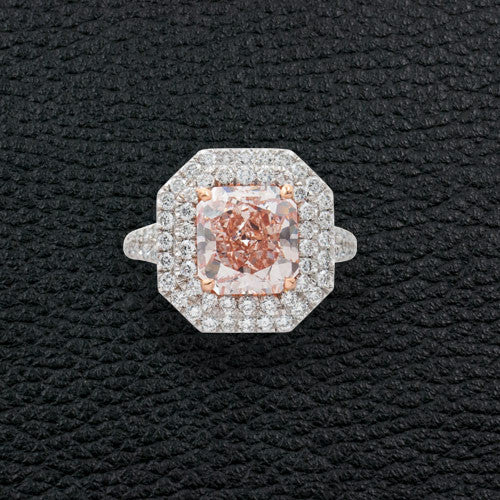 Fancy Orange-Pink Diamond Ring