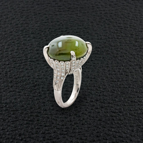 Alexandrite Cat's Eye & Diamond Ring