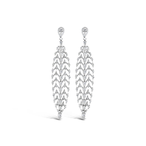 Diamond Flexible Dangle Earrings