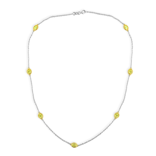 Yellow Diamonds by the Yard Necklace