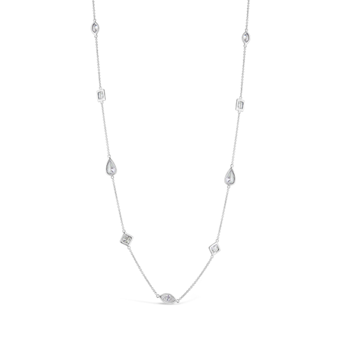 Fancy Shaped Diamonds by the Yard Necklace