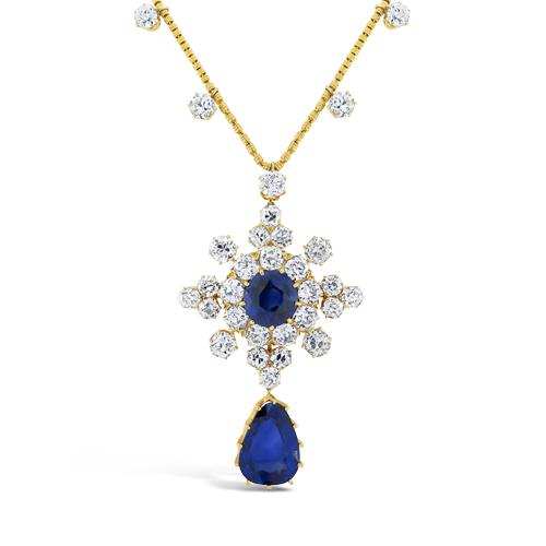 Sapphire & Diamond Tiffany Estate Necklace