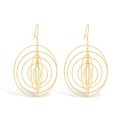 Gold Estate Spinner Earrings