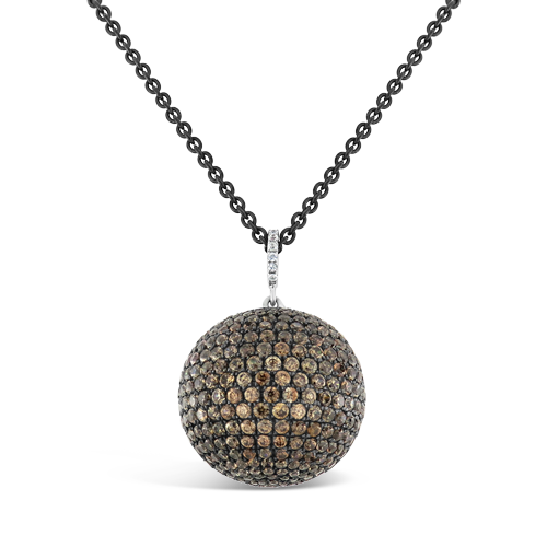 Brown Zircon Sphere Shaped Pendant