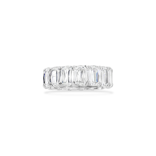 Modified Emerald Cut Eternity Band