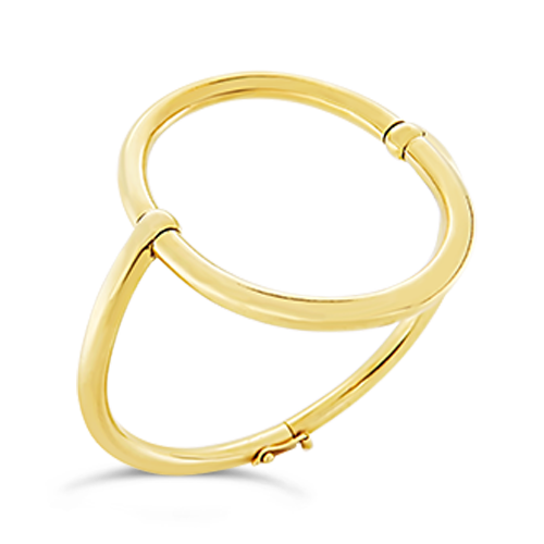 Open Oval Gold Estate Bangle