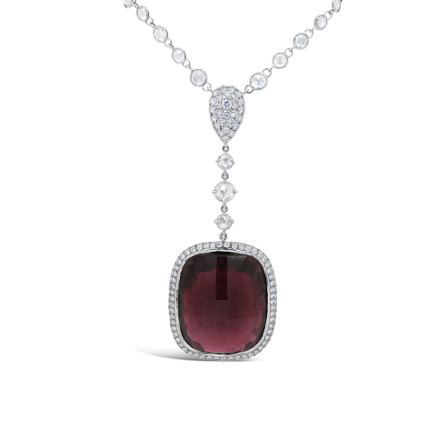 Rubellite & Diamond Necklace