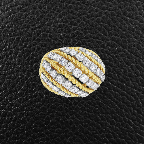 Gold & Diamond Domed Estate Ring