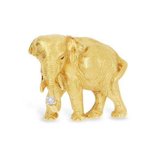 Gold Elephant Estate Pin Craiger Drake Designs Our free cutout pngs have no royalties. gold elephant estate pin craiger