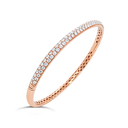 Rose Gold & Diamond Bangle Bracelet