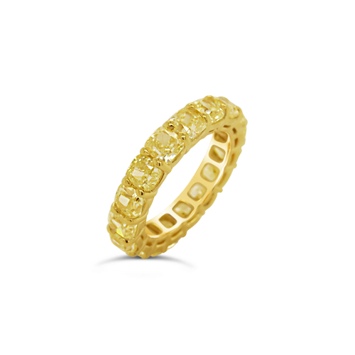 Yellow Diamond Eternity Band Ring