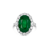 Oval Emerald & Diamond Ring