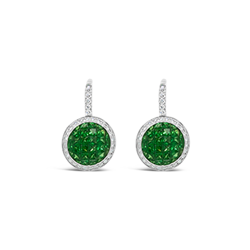 Tsavorite & Diamond Earrings