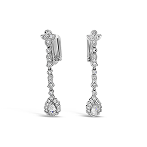 Diamond Dangle Estate Earrings