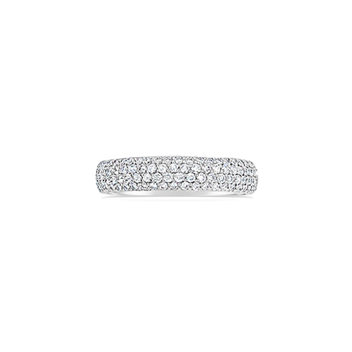 Micro-Pave Diamond Wedding Band