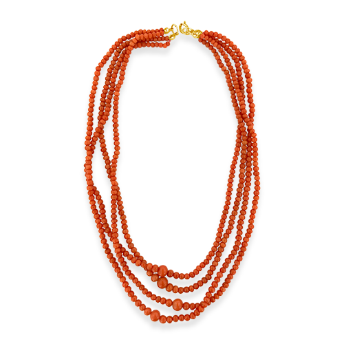 Coral Bead Estate Necklace