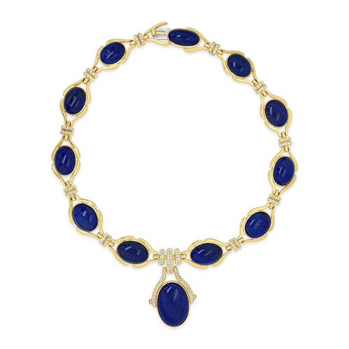 Lapis & Diamond Estate Necklace