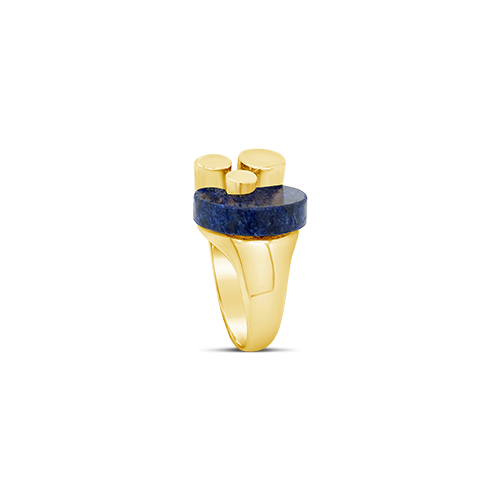 Lapis & Yellow Gold Estate Ring