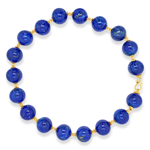 Lapis Bead Estate Necklace