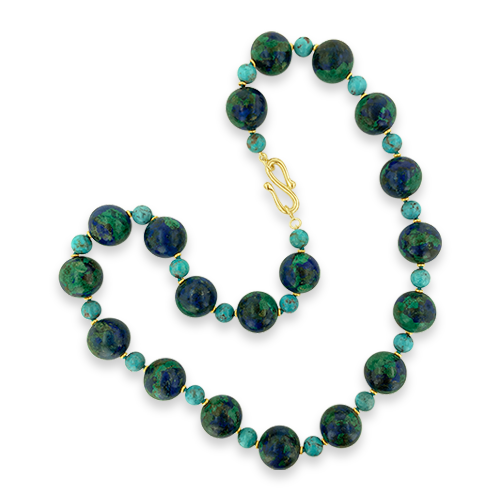 Malachite, Azurite & Turquoise Necklace