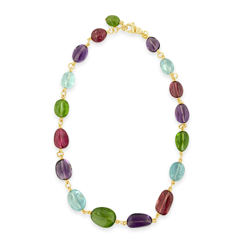Multi-gemstone Bead Necklace