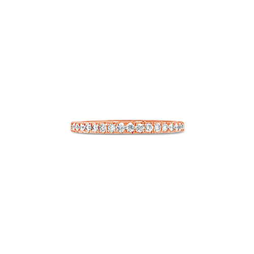 Diamond & Rose Gold Wedding Band