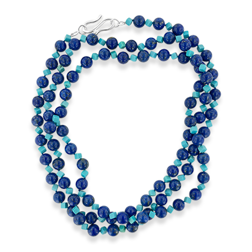 Lapis & Turquoise Bead Necklace