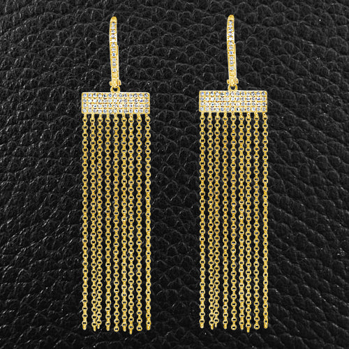 Gold & Diamond Fringe Earrings