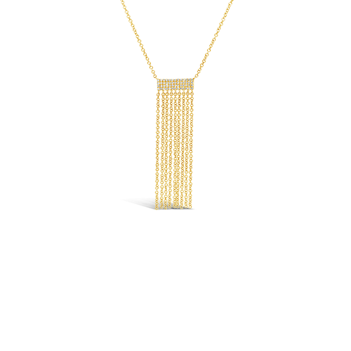 Gold & Diamond Fringe Necklace